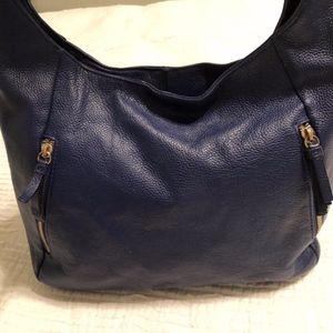Ora Delphine Leather Hobo Bag - Royal Blue